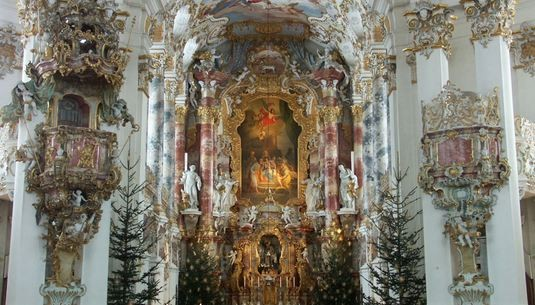 Baroque church, Wieskirche, Germany